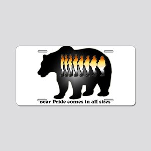 Bear Pride comes in all sizes Aluminum License Pla