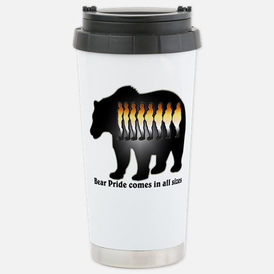 Bear Pride comes in all sizes Stainless Steel Trav
