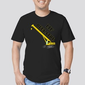 Lil' Crane Operator Men's Fitted T-Shirt (dark)