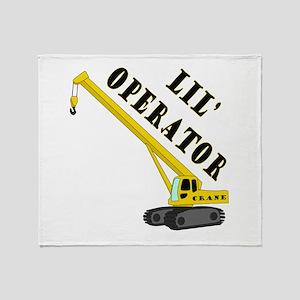 Lil' Crane Operator Throw Blanket