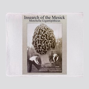 mesick giant morel Throw Blanket
