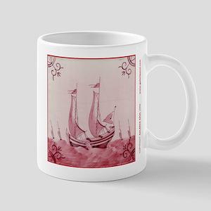 Pink Ship Tile: Mug (design 2)
