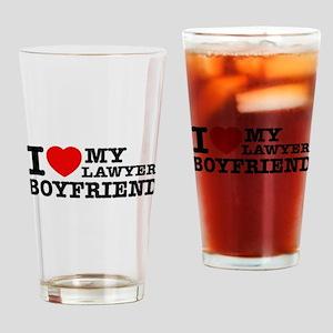 I love my Lawyer Boyfriend Drinking Glass