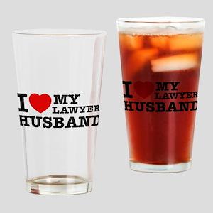 I love my Lawyer Husband Drinking Glass