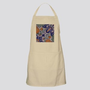 Floral Tile: BBQ Apron