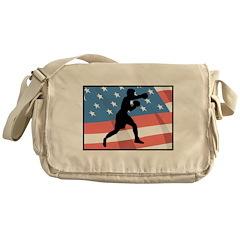 American Boxer Messenger Bag