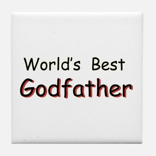 World's Best Godfather Tile Coaster