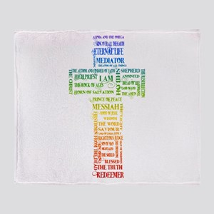 Names of Jesus Cross Throw Blanket