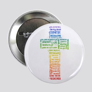 """Names of Jesus Cross 2.25"""" Button"""