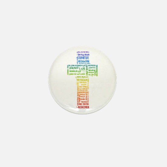 Names of Jesus Cross Mini Button