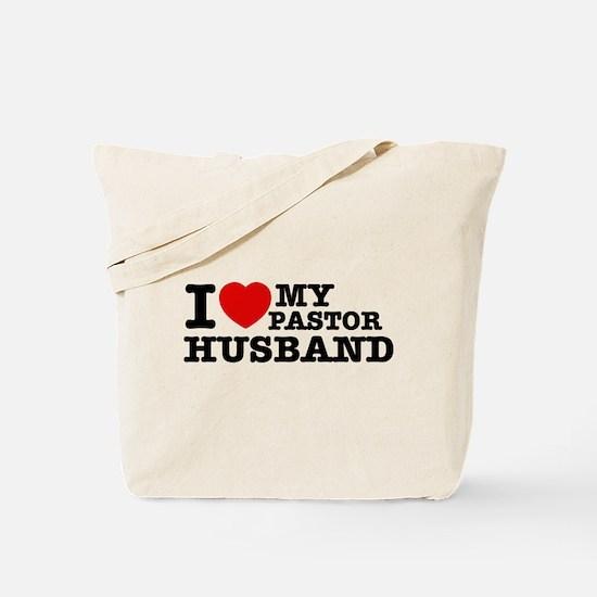 I love my Pastor Husband Tote Bag