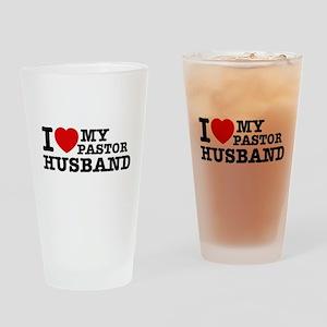I love my Pastor Husband Drinking Glass