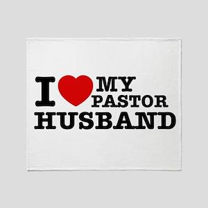 I love my Pastor Husband Throw Blanket
