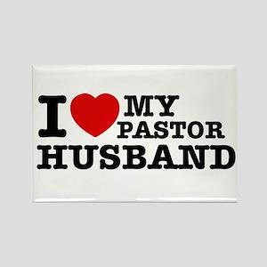 I love my Pastor Husband Rectangle Magnet