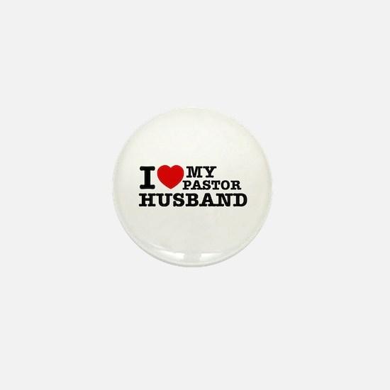 I love my Pastor Husband Mini Button