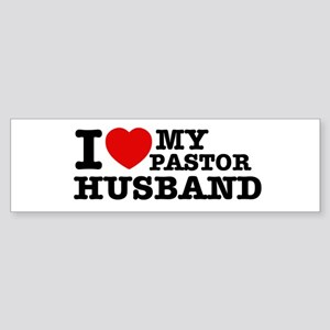 I love my Pastor Husband Sticker (Bumper)