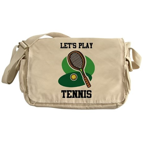 Let's Play Tennis Messenger Bag