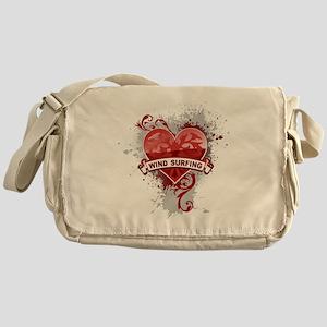 Heart Wind Surfing Messenger Bag