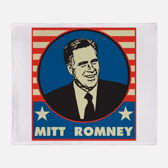 Retro Mitt Romney Throw Blanket
