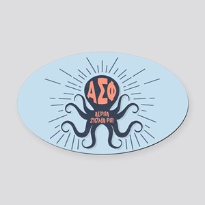 AlphaSigmaPhi Octopus Oval Car Magnet