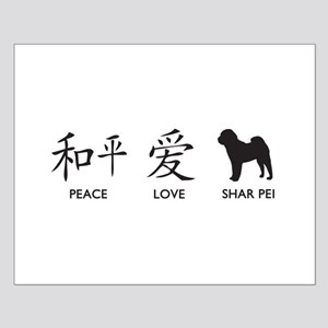Chinese-Peace, Love, Shar Pei Small Poster