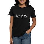 Chinese-Peace, Love, Shar Pei Women's Dark T-Shirt