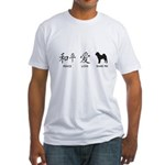 Chinese-Peace, Love, Shar Pei Fitted T-Shirt