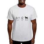 Chinese-Peace, Love, Shar Pei Light T-Shirt