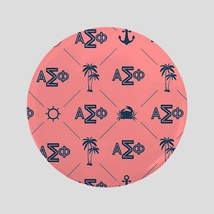 AlphaSigmaPhi Coral Pattern Button