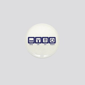 Sleep- Lift- Eat- Repeat Mini Button