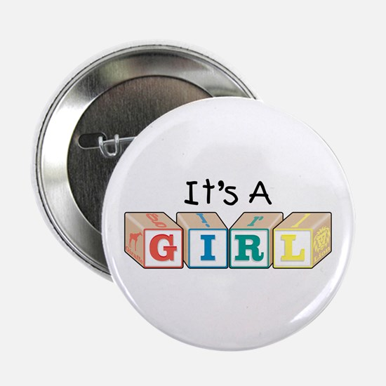 It's A Girl Button