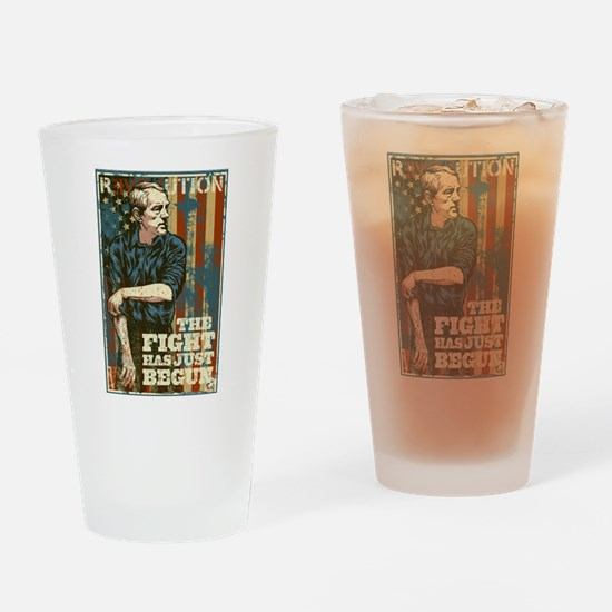 The Fight Has Just Begun Drinking Glass