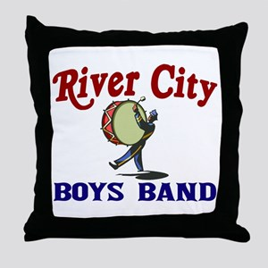 River City Boys Band Throw Pillow
