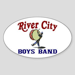 River City Boys Band Oval Sticker