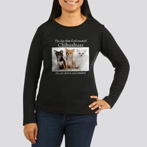 God & Chihuahuas Women's Long Sleeve Dark T-Shirt