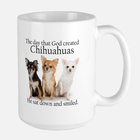 God & Chihuahuas Large Mug