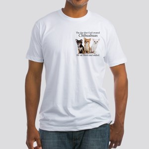 God & Chihuahuas Fitted T-Shirt