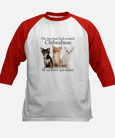 God & Chihuahuas Kids Baseball Jersey