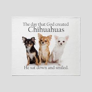 God & Chihuahuas Throw Blanket