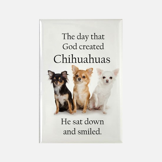 God & Chihuahuas Rectangle Magnet