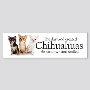 God & Chihuahuas Sticker (Bumper)