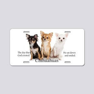 God & Chihuahuas Aluminum License Plate