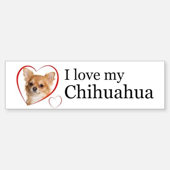 Love My Chihuahua Sticker (Bumper)