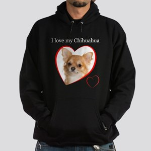Love My Chihuahua Hoodie (dark)
