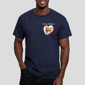 Love My Chihuahua Men's Fitted T-Shirt (dark)