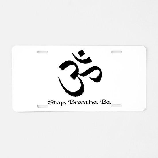 Unique Breathe Aluminum License Plate