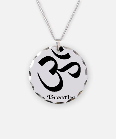 Cute Meditate Necklace Circle Charm