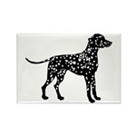 Dalmatian Silhouette Rectangle Magnet (100 pack)
