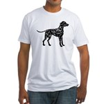 Dalmatian Silhouette Fitted T-Shirt