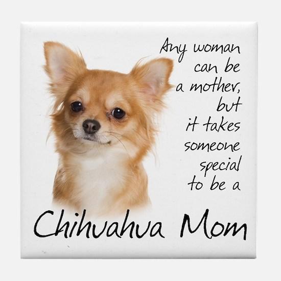Chihuahua Mom Tile Coaster